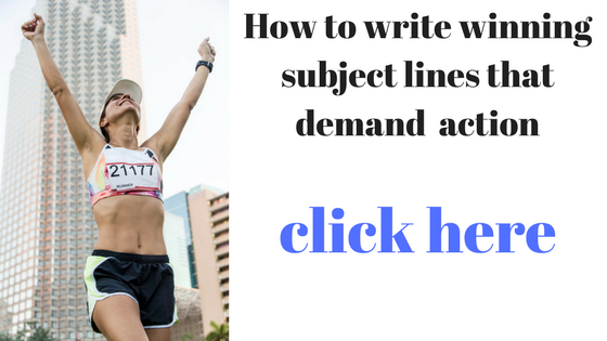 email subject lines – 128% higher click-through rate