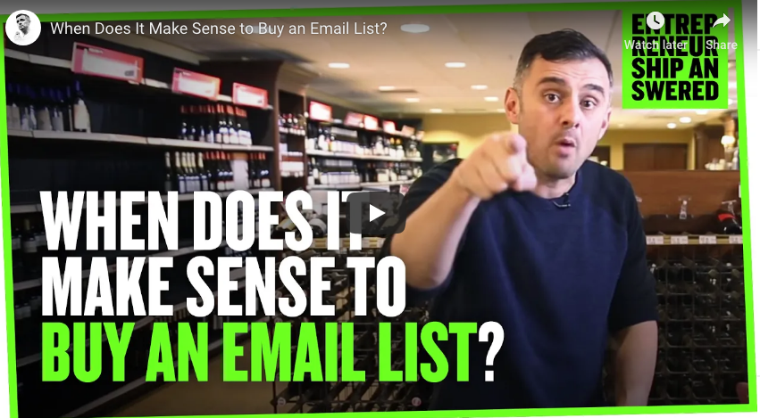 Should you buy an email list?
